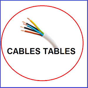 Cables Tables , electrical data for electricains Icon