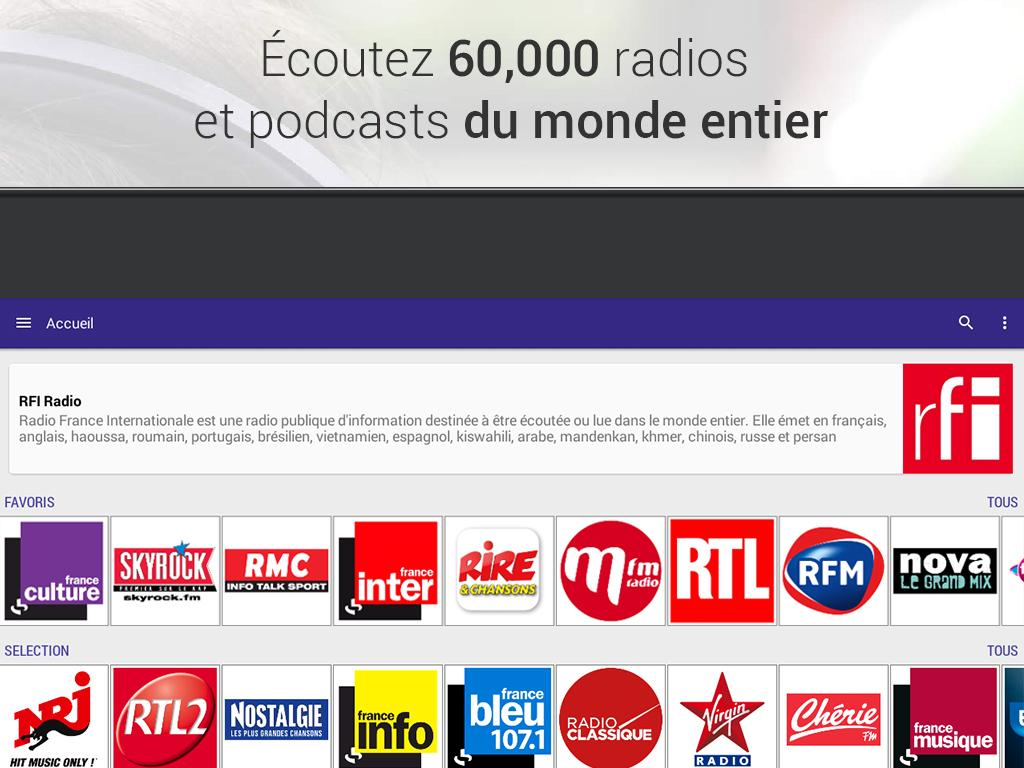 Radioline Radio et Podcast – Capture d'écran