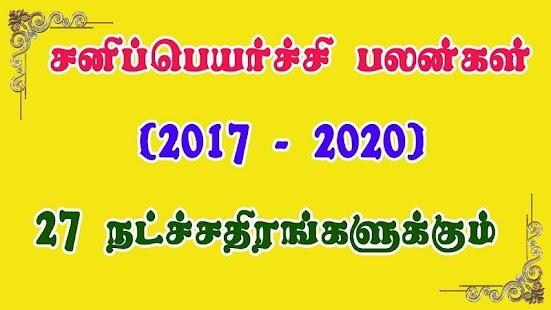 Sani Peyarchi 2018 Palangal & Pariharangal Tamil - náhled