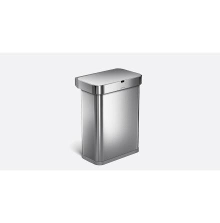 Röst och rörelsestyrd Soptunna Simplehuman  58 liter Borstat rostfritt stål