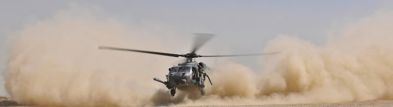Photo: An HH-60G Pave Hawk helicopter landing creates a massive dust cloud during an exercise at Bagram Airfield, Afghanistan, Aug. 21. 2010. The exercise tested the rescue squadron's ability to provide medical aid to U.S. and Coalition forces. (U.S. Air Force photo/Staff Sgt. Christopher Boitz)