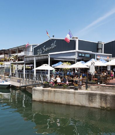 34 Degrees South is one of many popular restaurants in Knysna