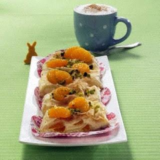 Quarkstrudel mit Mandarinen