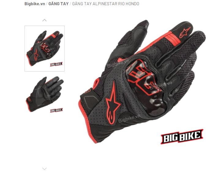 Một mẫu găng tay đang có mặt tại shop BigBike