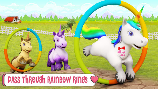 Baby Unicorn Wild Life: Pony Horse Simulator Games modavailable screenshots 5