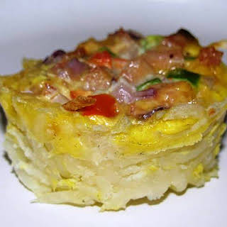 Make-Ahead Individual Ham, Cheese & Veggie Frittatas..
