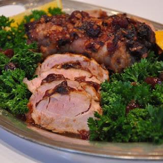 Easy Cranberry Chipotle Pork Tenderloin.