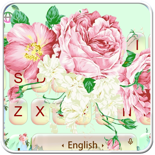 Rose Flower Garden Keyboard Theme