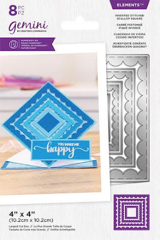 Gemini Elements Die - Inverted Stitched Scallop Square