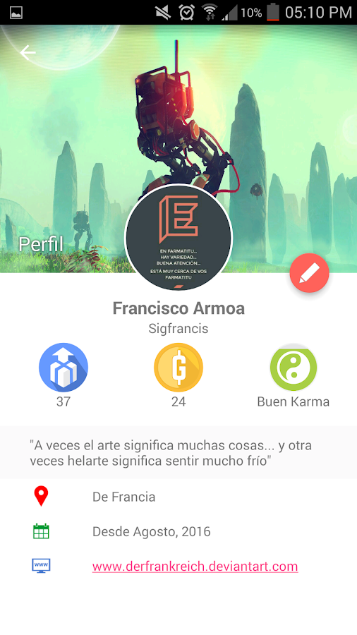 Surprizer: captura de pantalla