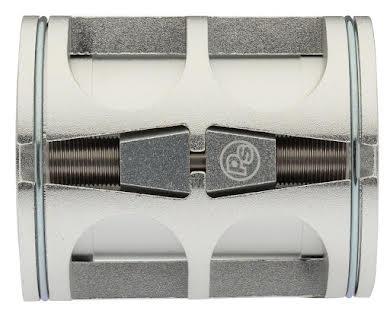 Problem Solvers Bushnell Eccentric Lightweight Bottom Bracket - 68mm x 54mm, Silver alternate image 0