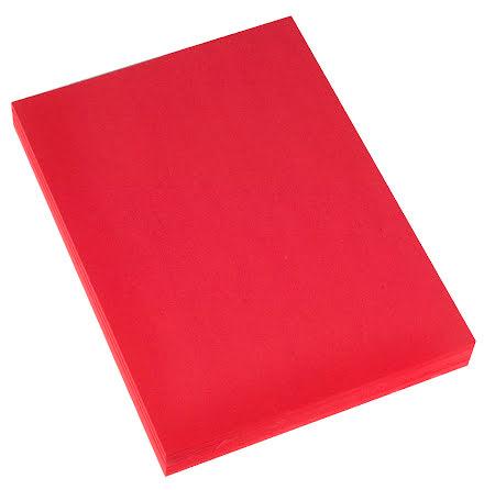 Kartong 45x64 225g röd 10/fp