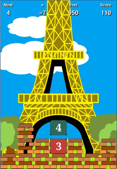Скриншот MathTris