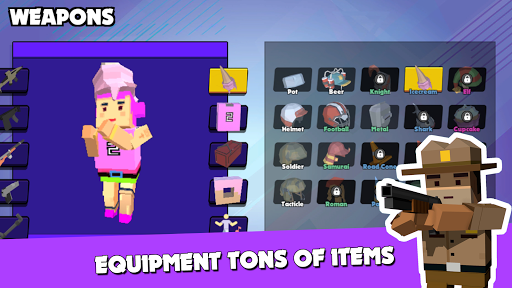 PIXEL ROYALE™ GUN 3D MOBILE UNKNOWN BATTLE GROUND APK MOD (Astuce) screenshots 4