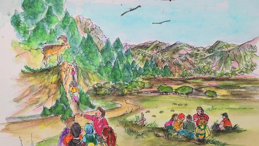Ilustración de Septiembre al Natural, la oferta de Ecoturismo en Espacios Naturales de Andalucía.