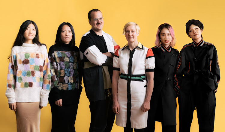 Designers from left to right: PH5's Wei Lin and Mijia Zhang; Liam Hodges; Rike Feurstein; Staffonly's Simo Zhou and Une Yea