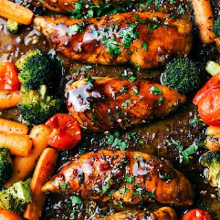 ONE PAN Balsamic Chicken and Veggies.