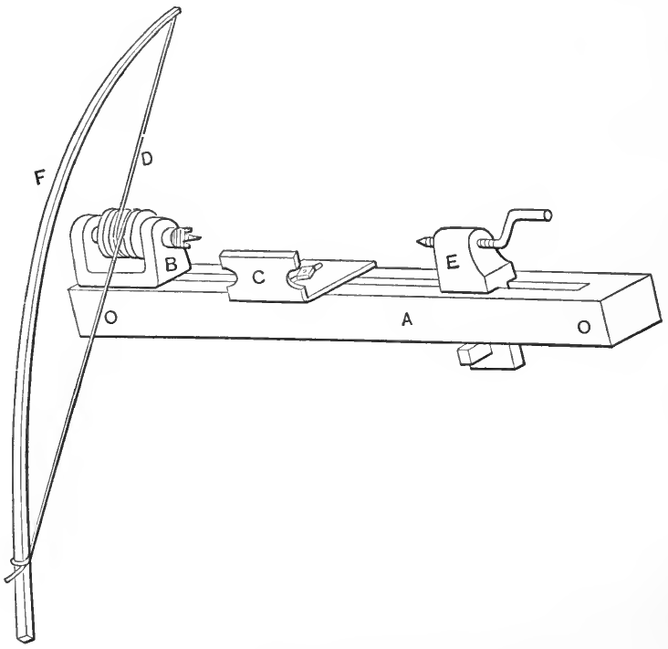"""The """"Fiddle-Bow"""" Lathe"""