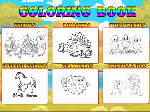 48 Animal Coloring Books - screenshot