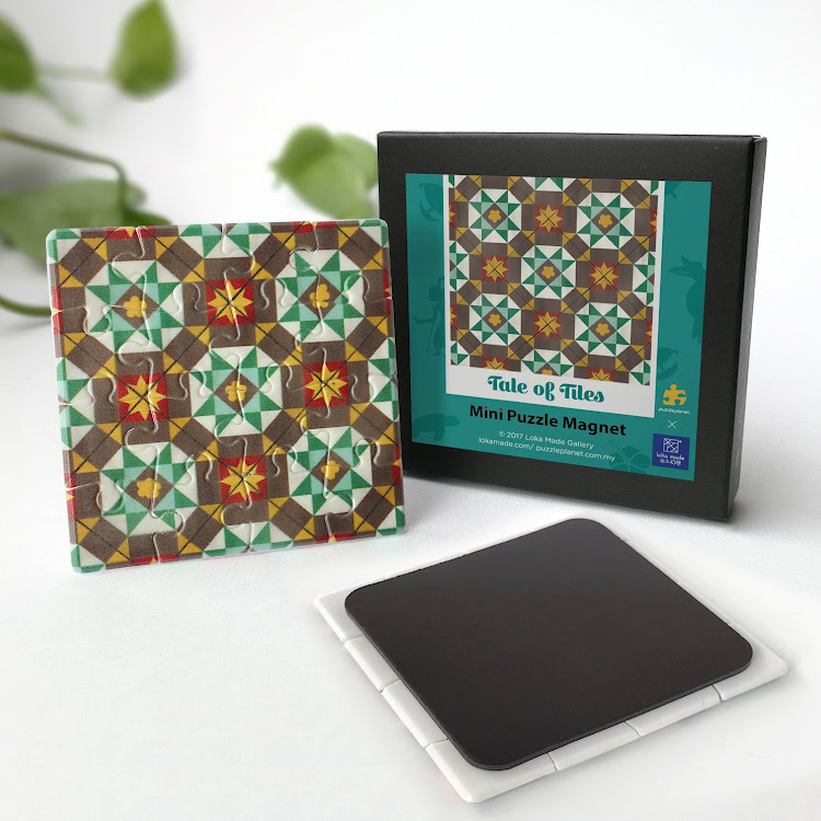 Mini Puzzle Magnet: Tale of Tiles by Loka Made