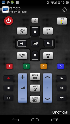 Remoto para televisor Samsung screenshot 1