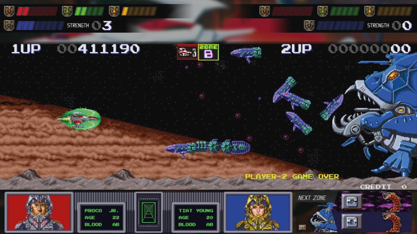 Arcade collection screen