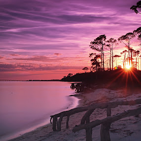 painted sky  by Earl Wyant - Landscapes Beaches