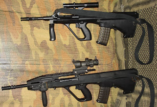 Photo: Steyr AUG A1 Carbine Steyr AUG A2
