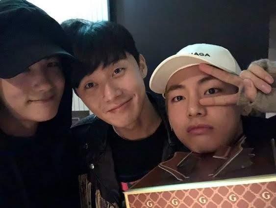 BTS V, Park Seo-Joon and Park Hyun Sik