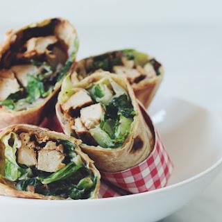 Vegan Chicken Caesar Wraps →