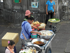 Photo: Food on a stick at the Victory Monument
