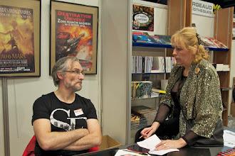 Photo: Claude Longelin et Marie-Charlotte Delmas, très sérieux