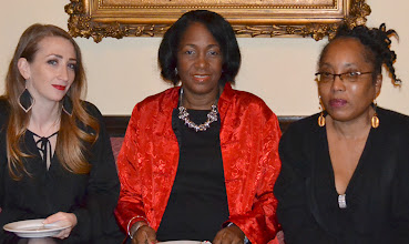 Photo: Michele Fox, founder Riding with Us; Akua Henderson-Brown and Guest