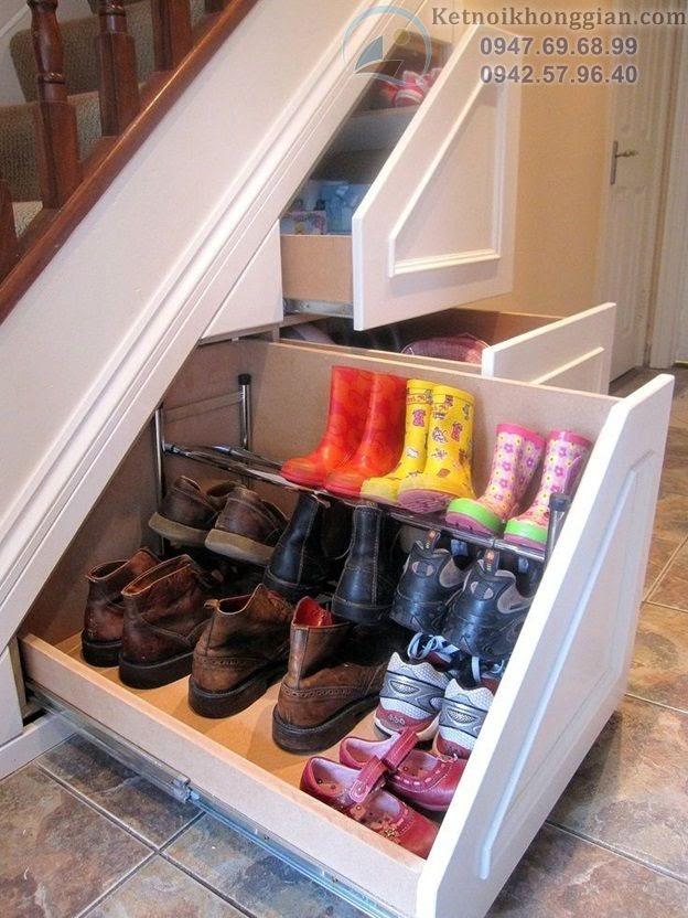 thiết kế kệ giày sáng tạo