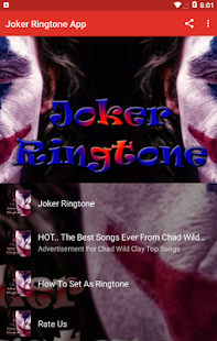 Joker Ringtone App Screenshot