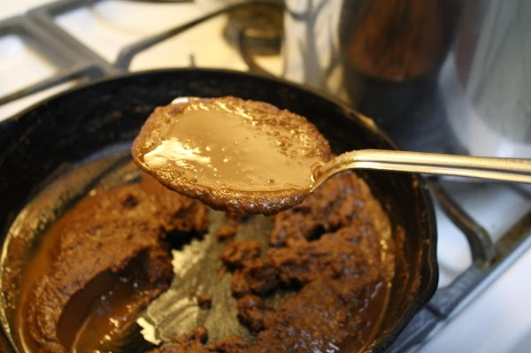 Reduce the heat to MEDIUM LOW, or LOW, and continue STIRRING CONSTANTLY until it...