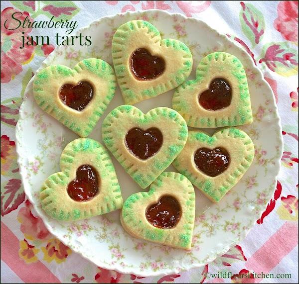 Strawberry Jam Tart Cookies Recipe
