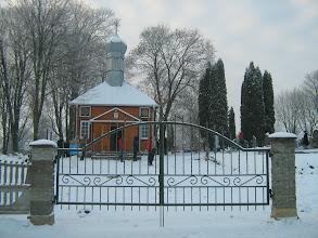 Photo: Nemėžis. Pirmoji totorių mečetė, pastatyta 1684 m., buvo medinė, su bokšteliu, bet ji sudegė. Dabartinė pastatyta 1909 m. pagal inžinieriaus A. Sonino projektą, atskiros patalpos vyrams ir moterims. Sovietmečiu ji buvo paversta sandėliu. Pamaldos vyksta tik tais penktadieniais, kai būna jaunas mėnulis.
