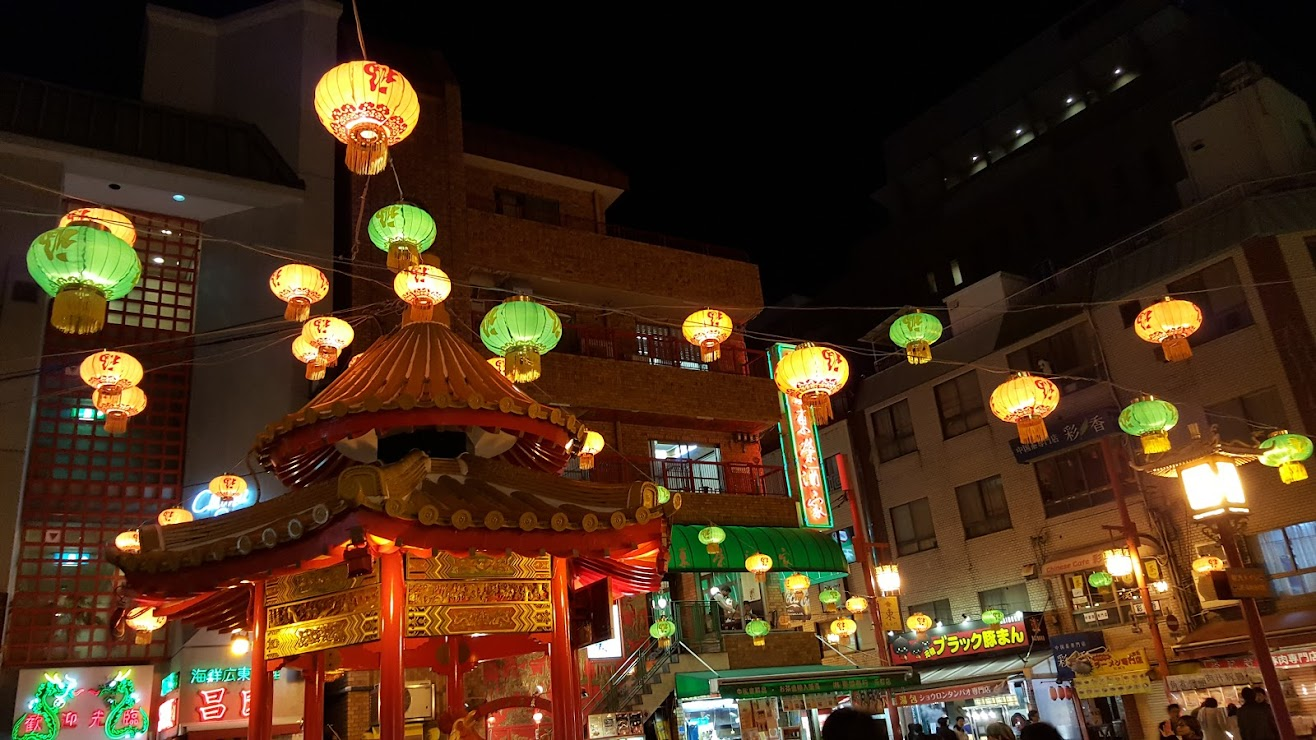 Kobe Chinatown or Nankinmachi, located at the Motomachi area