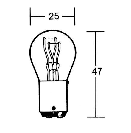 P21/5W Incandescent lamp 6V 21/5W BAY15D