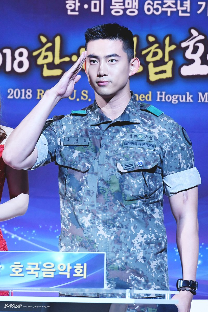 Recent Photos Of 2PM Taecyeon In Army Show His Drastic Body