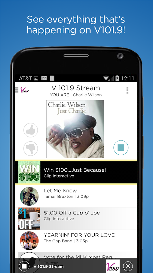 V 101.9- screenshot