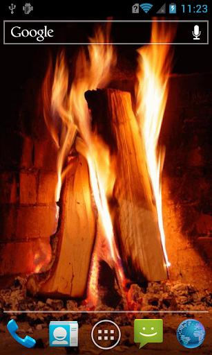 Blazing firewood Live WP