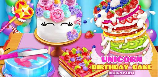 Birthday Cake Design Party Bake Decorate Eat