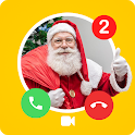 Call from Santa Claus + video call  Simulation icon