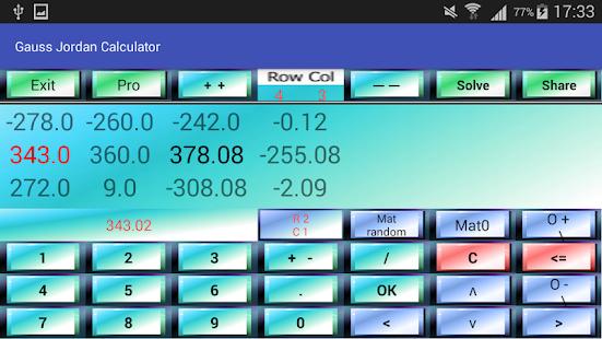 Gauss jordan calculator pro - Apps on Google Play