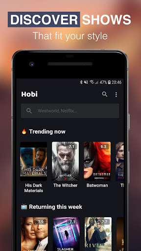 Hobi: TV Series Tracker, Trakt Client For TV Shows screenshot 3