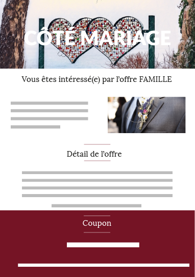 Offre famille mariage