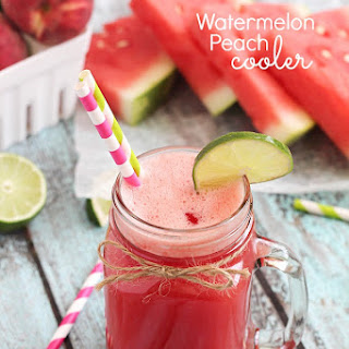Watermelon Peach Cooler.