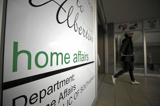 A home affairs office in Alberton, south of Johannesburg. Picture: ALAISTER RUSSEL/ SUNDAY TIMES